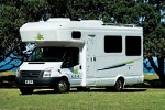 Motorhome with roof canopy