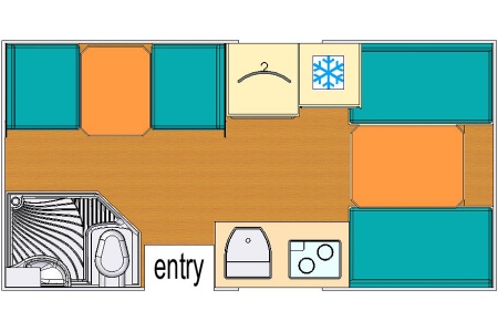 Floor plan - Bobo Campers, Discoverer 4