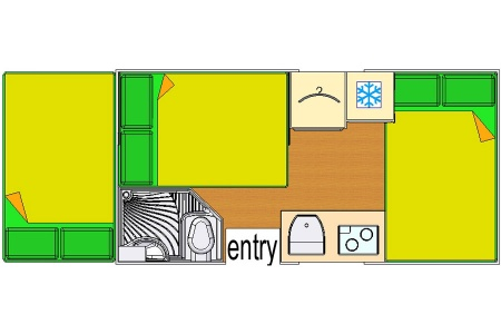Floor plan - Bobo Campers, Discoverer 6