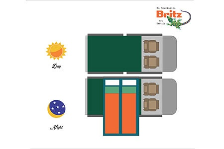 Floor plan - Britz, 4WD SE 2-Berth