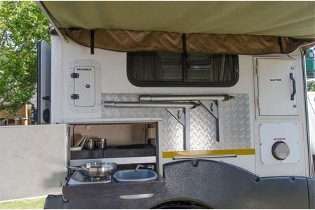 Interior view - Britz, 4WD TX 2-Berth