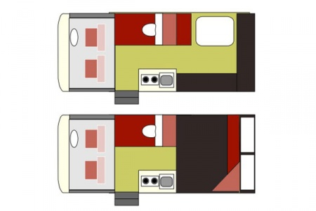 Floor plan - Maui, 2-Berth Camper