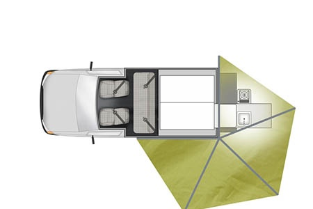 Floor plan - Apollo Motorhome Holidays, 4WD X-Terrain