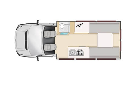 Floor plan - Apollo Motorhome Holidays, Euro Tourer
