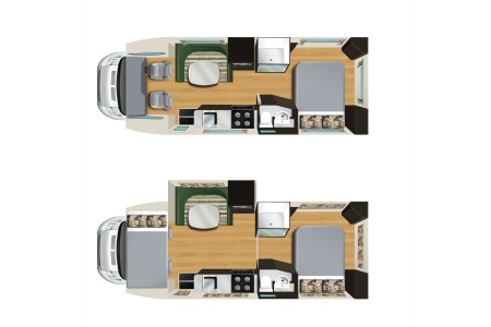 Floor plan - Apollo Motorhome Holidays, Euro Slider