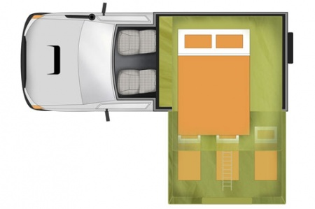 Floor plan - Apollo Motorhome Holidays, 4WD Overlander