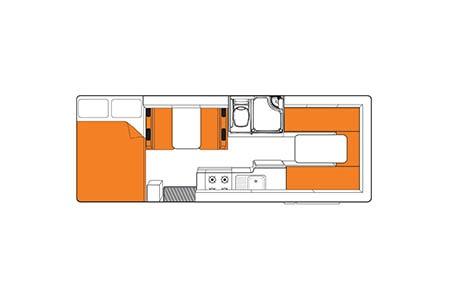 Floor plan - Britz, Explorer Motorhome