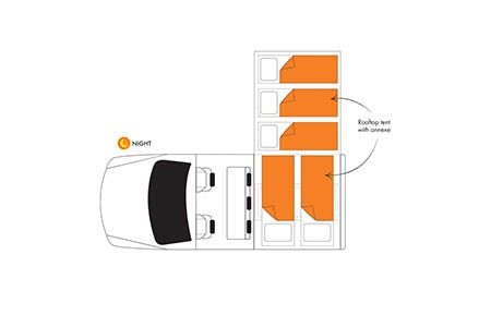Floor plan - Britz, 4WD Safari Landcruiser