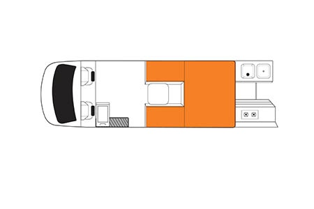 Floor plan - Britz, 4WD Scout