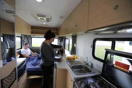 Interior view - Britz, Explorer Motorhome