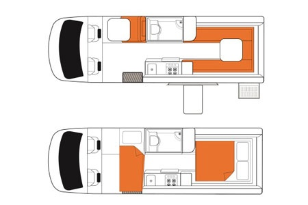 Floor plan - Britz, Venturer Plus Camper
