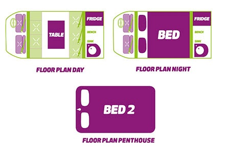 Floor plan - JUCY Rentals, Champ