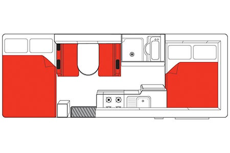 Floor plan - Mighty Campers, Double Up