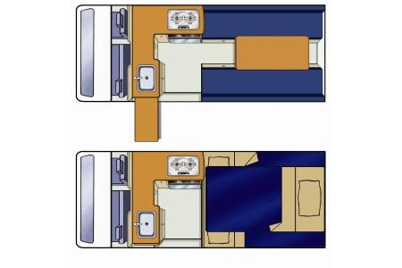 Floor plan - Mighty Campers, Highball