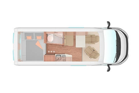 Floor plan - Apollo Motorhome Holidays, Duo