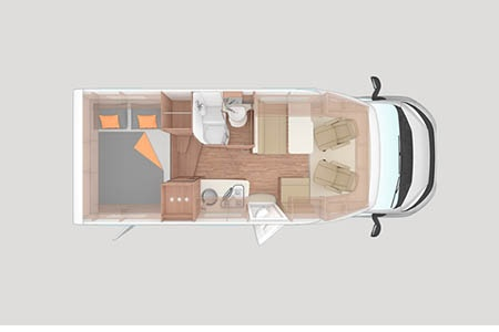 Floor plan - Apollo Motorhome Holidays, Duo Plus