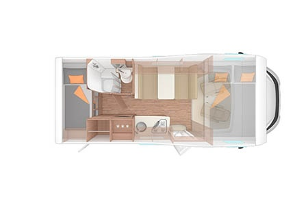 Floor plan - Apollo Motorhome Holidays, Family Voyager
