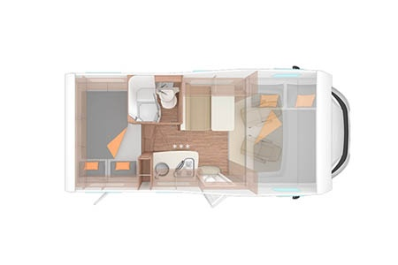 Floor plan - Apollo Motorhome Holidays, Family Traveller
