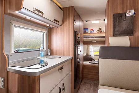 Interior view - Apollo Motorhome Holidays, Family Voyager