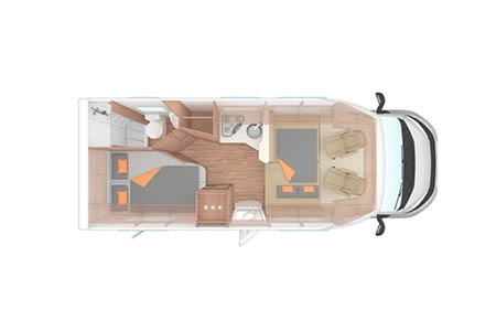 Floor plan - Apollo Motorhome Holidays, Family Traveller Plus
