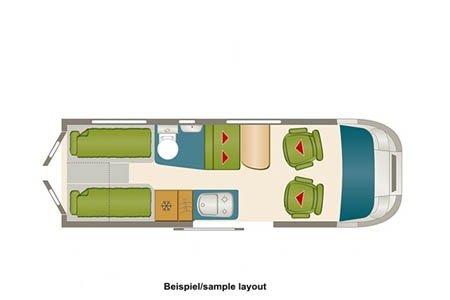 Floor plan - DRM, B4 Compact Tourer
