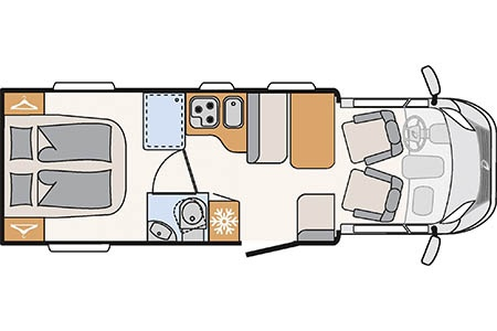 Floor plan - McRent, Comfort Standard
