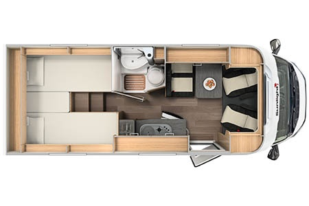 Floor plan - McRent Ireland, Compact Plus