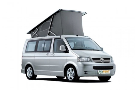 Aussenansicht McRent VW California / Mercedes Marco Polo