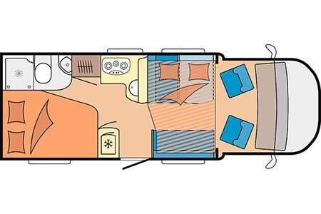 Floor plan - Touring Cars, TC Medium
