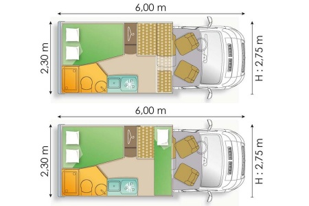 Floor plan - Avis Car-Away, Type A1