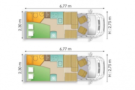 Floor plan - Avis Car-Away, Type A2