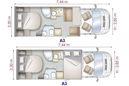 Floor plan - Avis Car-Away, Type A3