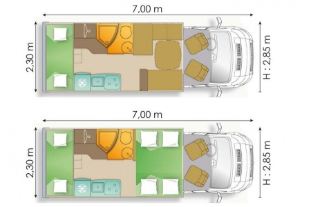 Floor plan - Avis Car-Away, Type A4