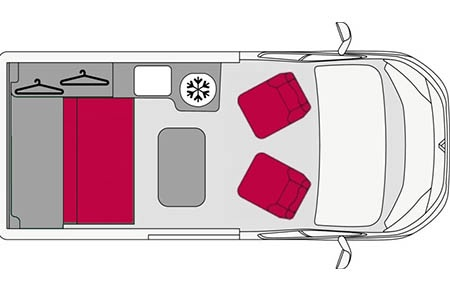 Floor plan - Avis Car-Away, Combi Van