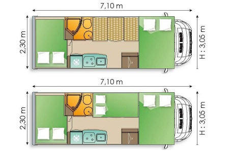 Floor plan - Avis Car-Away, Type D1