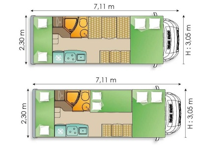 Floor plan - Avis Car-Away, Type D2