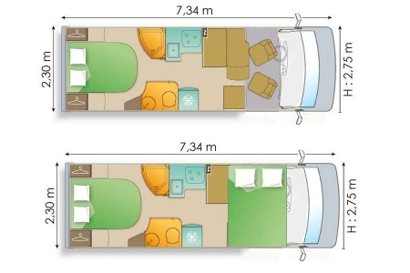 Floor plan - Avis Car-Away, Type E3