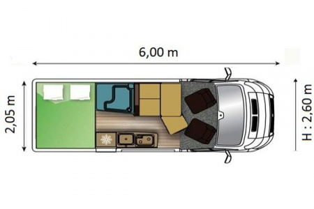 Floor plan - Avis Car-Away, Type Van