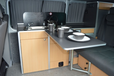 Interior view - Bunk Campers, Nomad 2-Berth Campervan
