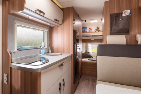 Interior view - Bunk Campers, Vista-Plus 4-Berth Campervan