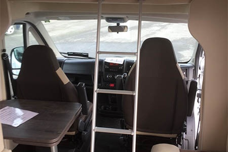 Interior view - Celtic Campervans, Group C - 2-4 Berth Camper