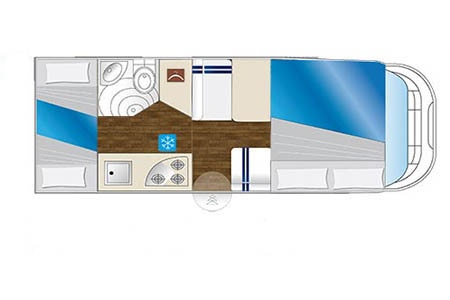 Floor plan - Celtic Campervans, Group C - 2-4 Berth Camper