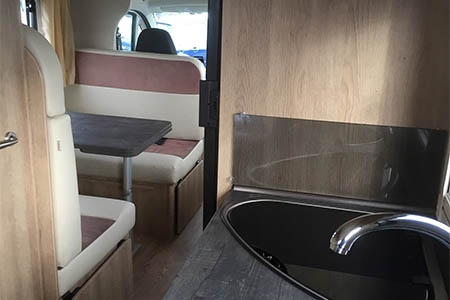 Interior view - Celtic Campervans, Group D - 4-6 Berth Camper