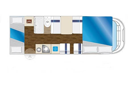 Floor plan - Celtic Campervans, Group D - 4-6 Berth Camper