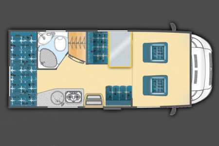 Floor plan - Celtic Campervans, Lagan 202