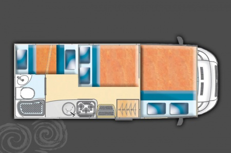 Floor plan - Celtic Campervans, Steel 430