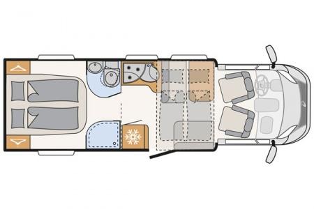 Grundriss McRent Island Comfort Plus