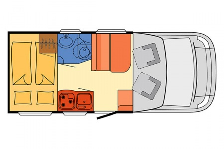 Floor plan - McRent, Compact Plus