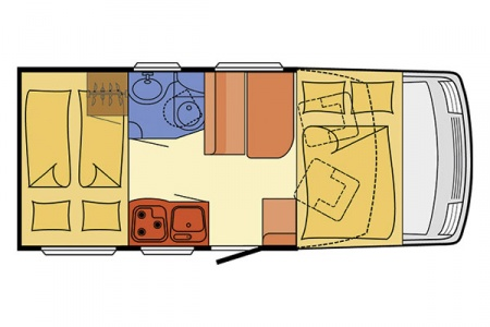 Floor plan - McRent, Compact Luxury