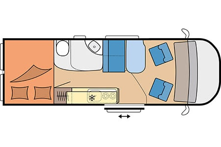Floor plan - Touring Cars, TC Van